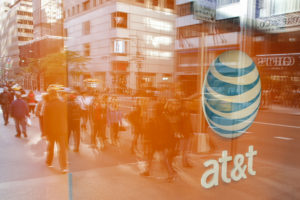 An AT&T store in New York. Photo by Kena Betancur/AFP/Getty Images