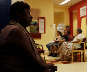 An undocumented immigrant stands in a clinic in Washington, D.C. With the Trump administration's efforts to deter people from crossing into the United States, a growing number of undocumented immigrants are avoiding doctor's office and needed health care out of fear they might be deported. REUTERS/Gary Cameron