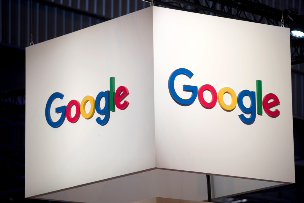 The logo of Google is pictured during the Viva Tech start-up and technology summit in Paris, France. Photo by Charles Platiau/Reuters