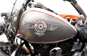 "Harley-Davidson bikes are seen at the ""Hamburg Harley Days"" in Hamburg, Germany. Photo by Fabian Bimmer/Reuters"