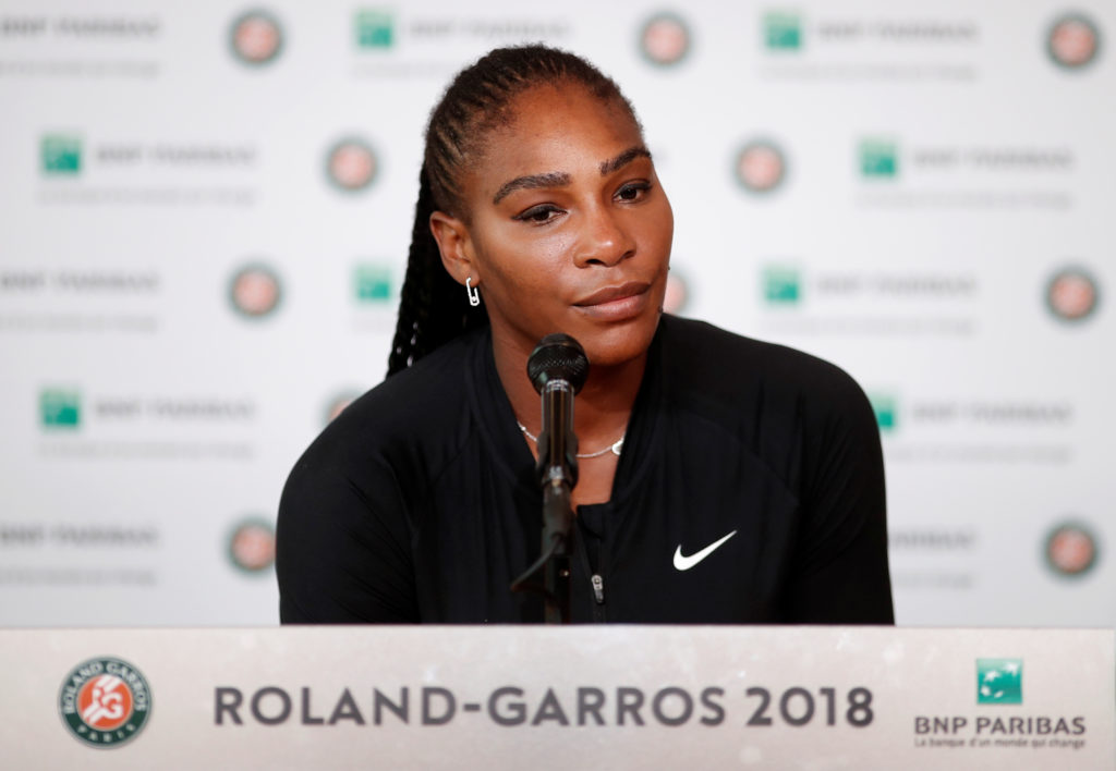 Serena Williams announced her decision at a news conference today. Photo by Benoit Tessier/Reuters