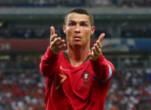 Portugal's Cristiano Ronaldo gestures during a game at the 2018 World Cup. Photo by REUTERS/Hannah McKay