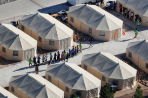 File photo of Tornillo, Texas, shelter by Mike Blake/Reuters