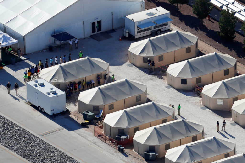Child detention facility in Tornillo, Texas, on June 19. Photo by Mike Blake/Reuters