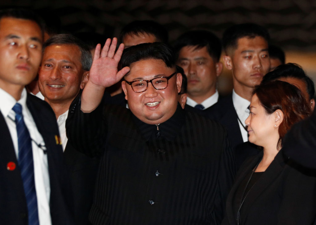 North Korea's leader Kim Jong Un visits The Marina Bay Sands hotel in Singapore, June 11, 2018. REUTERS/Edgar Su