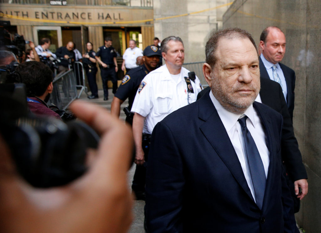 Film producer Harvey Weinstein leaves court in the Manhattan borough of New York City, June 5, 2018. Photo by Brendan McDermid/Reuters