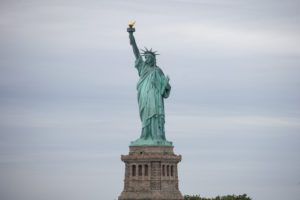 The Statue of Liberty is seen at New York Harbor in New York City, U.S., June 27, 2018. REUTERS/Brendan McDermid - RC17161922A0