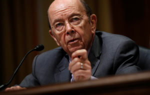 "Commerce Secretary Wilbur Ross testifies before a Senate Finance hearing on ""Current and Proposed Tariff Actions Administered by the Department of Commerce"" on Capitol Hill in Washington, D.C. Photo by Kevin Lamarque/Reuters"