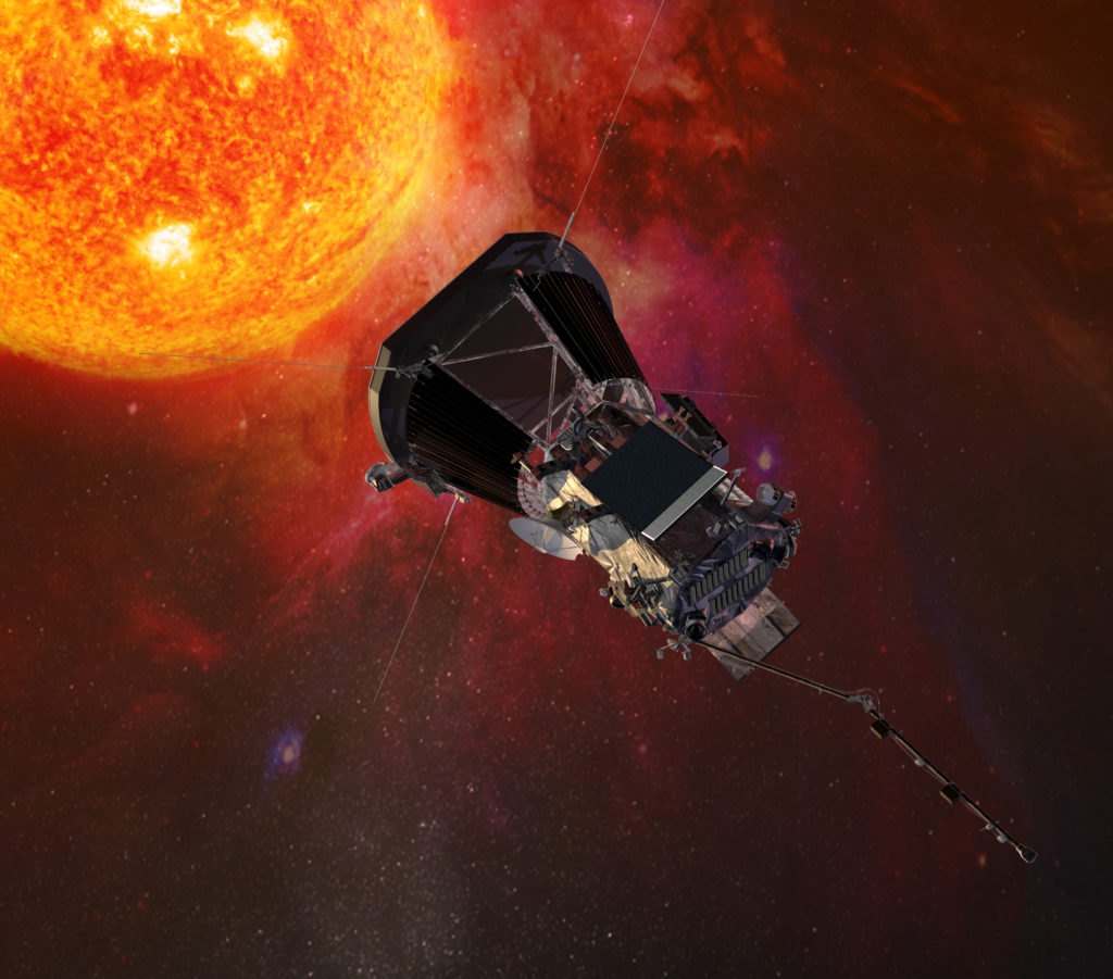 With each of it's seven orbits, the Parker Solar Probe will inch closer to the sun, so scientists can unlock solar mysteries. Image by NASA/Johns Hopkins APL/Steve Gribben
