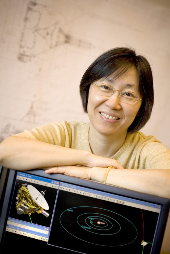 Yanping Guo is the mission designer for the Parker Solar Probe. She has mapped a journey that will bring the probe into the sun's corona. Photo by Johns Hopkins APL/Ed Whitman