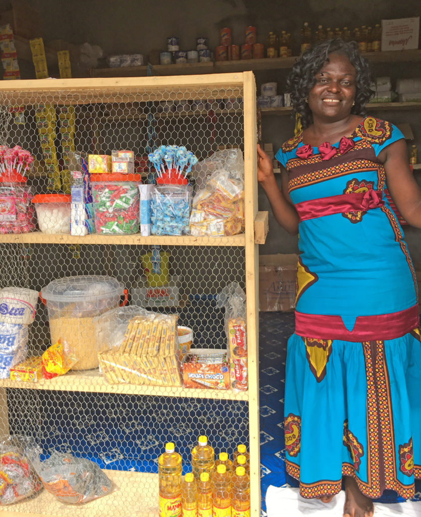 The group also provides seed money to women to start their own businesses. Photo courtesy of the Survivors' Network