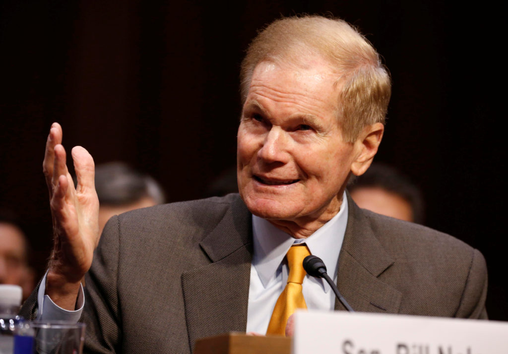 Senator Bill Nelson (D-FL) testifies to the Senate Judiciary Committee during a hearing about legislative proposals to improve school safety in the wake of the mass shooting at the high school in Parkland, Florida, on Capitol Hill in Washington, U.S., March 14, 2018. REUTERS/Joshua Roberts - RC195B257470