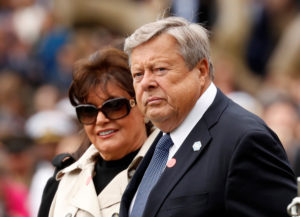 File photo of Viktor and Amalija Knavs, the parents of first lady Melania Trump, by Kevin Lamarque/Reuters
