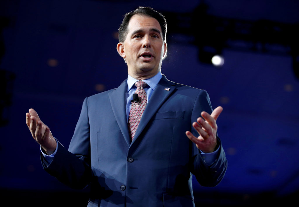 Wisconsin Gov. Scott Walker speaks during the Conservative Political Action Conference (CPAC) in National Harbor, Maryland. Walker signed a series of bills aimed at preserving laws passed during his time in office. Photo by Joshua Roberts/Reuters