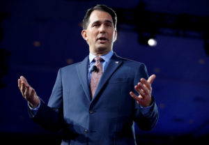 Wisconsin Gov. Scott Walker speaks during the Conservative Political Action Conference (CPAC) in National Harbor, Maryland. Photo by Joshua Roberts/Reuters