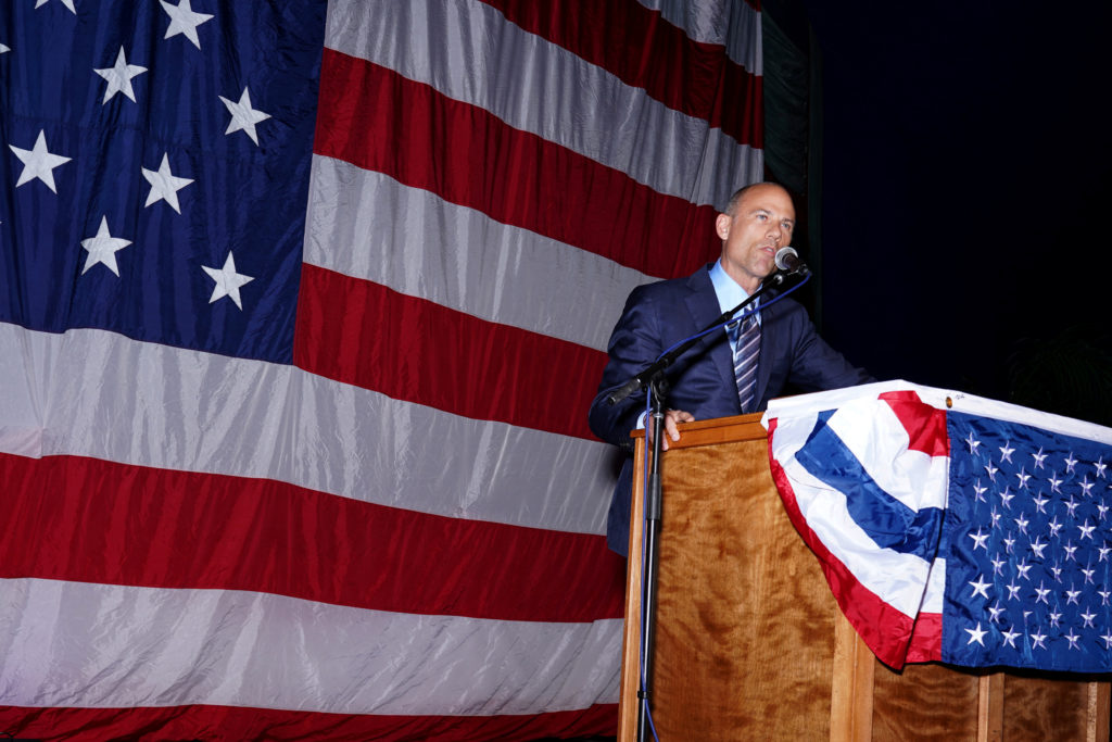 Michael Avenatti attends the Iowa Democratic Wing Ding in Clear Lake, Iowa. Photo by KC McGinnis/Reuters