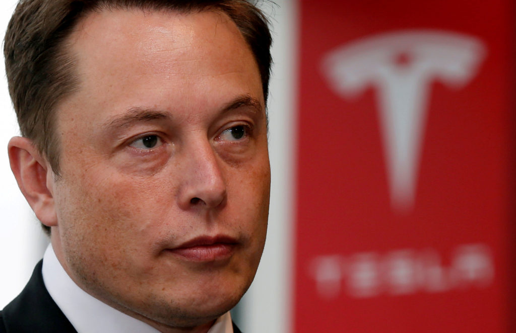 Tesla Motors Inc Chief Executive Elon Musk pauses during a news conference in Tokyo September 8, 2014. Photo by Toru Hanai/Reuters