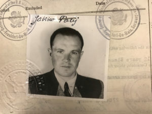 Jakiw Palij, a 95-year old New York City man believed to be a former guard at a labor camp in Nazi-occupied Poland, is pictured in a 1949 visa photo in this undated handout image. Photo by Department of Justice/via Reuters