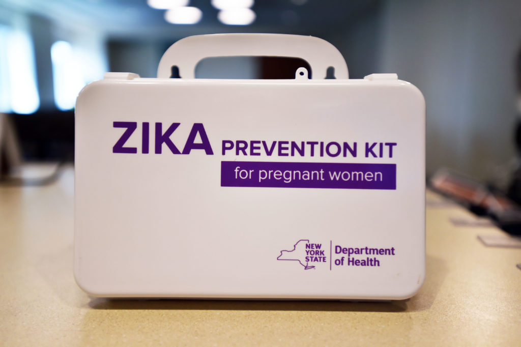 In a report released Tuesday, the CDC found that 14 percent -- 1 in 7 -- of babies exposed to Zika during pregnancy experienced a health problem possibly caused by the virus, whether it be a birth defect or a more subtle developmental problem. Photo by Kevin P. Coughlin/Office of the Governor/via REUTERS