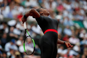 Tennis - French Open - Roland Garros, Paris, France - May 29, 2018 Serena Williams of the U.S. in action during her first round match against Czech Republic's Kristyna Pliskova REUTERS/Christian Hartmann TPX IMAGES OF THE DAY - RC161B682FC0