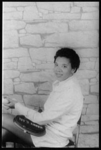 Portrait of Althea Gibson by Van Vechten in 1956. Photo courtesy of the Library of Congress