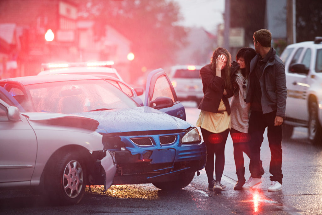 Even when an individual is physically unharmed after a car crash, the traumatic event can still cause chronic pain. Photo by Image Source/via Getty Images