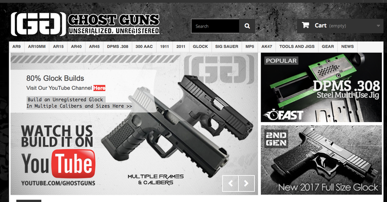 One gun kit seller's website. Screenshot by The Conversation