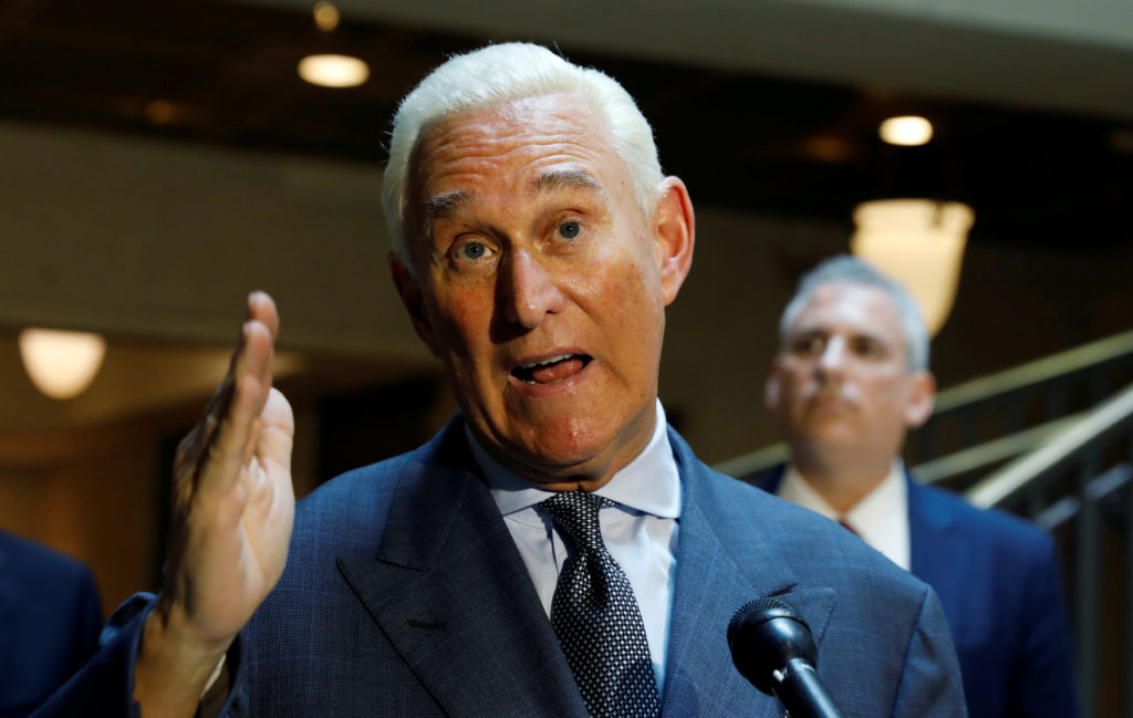 FILE PHOTO: U.S. political consultant Roger Stone, a longtime ally …