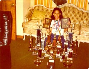 Katrina Adams, president of the USTA, as a young girl finding her place in tennis. Photo courtesy of the USTA