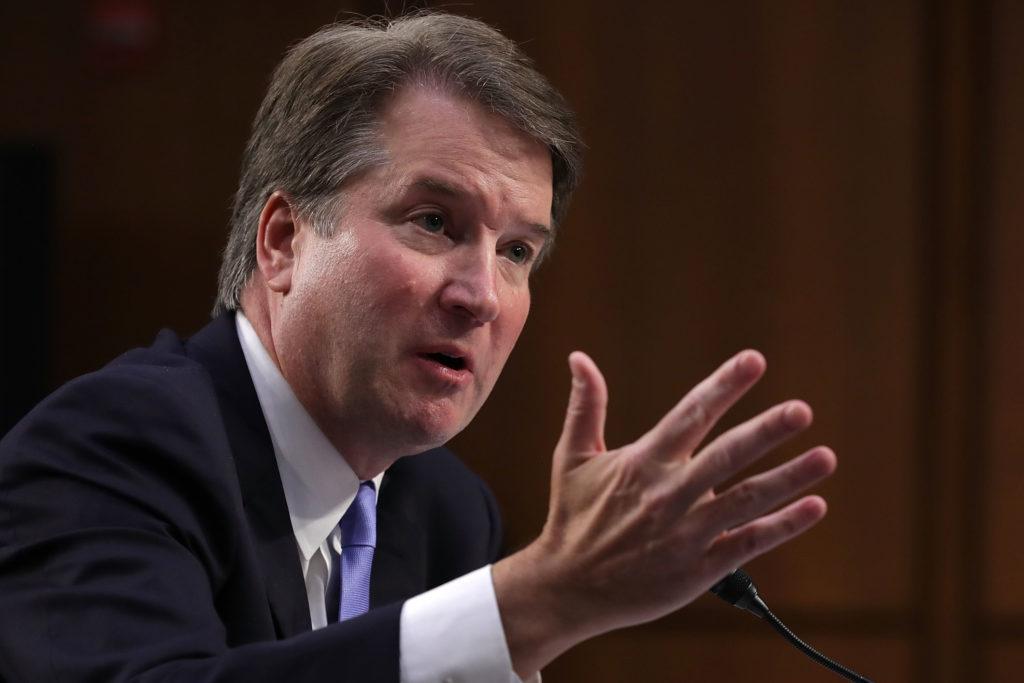 Supreme Court nominee Judge Brett Kavanaugh testifies before the Senate Judiciary Committee on the third day of his Suprem...