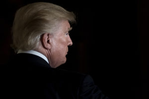 "President Donald Trump's unconventional style and ""America First"" agenda is causing foreign policy experts to fear that U.S. influence on the world is waning. BRENDAN SMIALOWSKI/AFP/Getty Images"