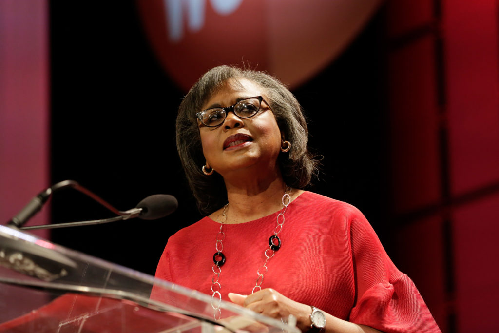 AUSTIN, TX - NOVEMBER 02: Anita Hill speaks at the Texas Conference For Women 2017 at Austin Convention Center on November...