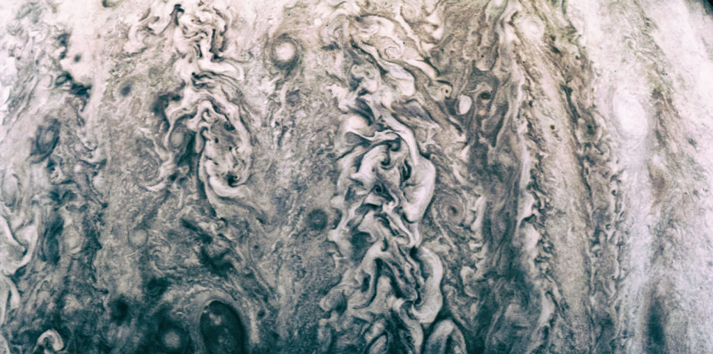 Some of Jupiter's many clouds. Image by NASA / Synthetrix