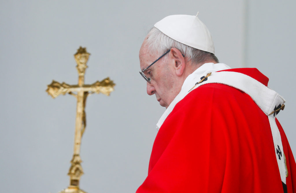 Pope Francis leads a Holy Mass at Freedom Square in Tallinn, Estonia in September. Photo by Max Rossi/Reuters