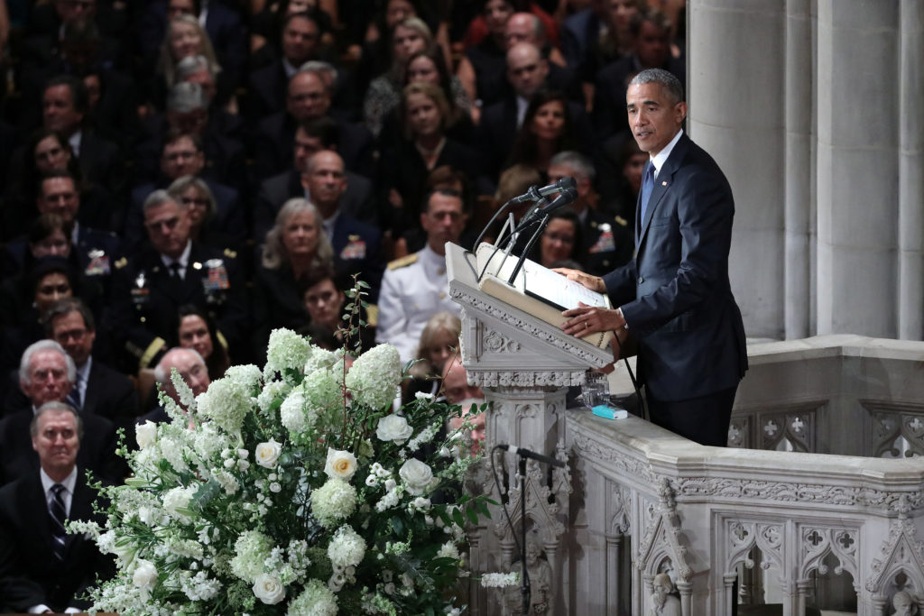 WATCH: Barack Obama's full eulogy for John McCain