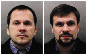 Alexander Petrov and Ruslan Boshirov, seen here seen in an image handed out by the Metropolitan Police in London, were charged with the poisoning of former Russian intelligence officer Sergei Skripal and his daughter Yulia in Salisbury. Metroplitan Police handout via Reuters