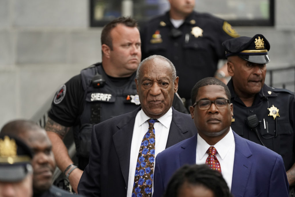 Actor and comedian Bill Cosby leaves the Montgomery County Courthouse after his first day of sentencing hearings in his sexual assault trial in Norristown, Pennsylvania. Photo by Jessica Kourkounis/Reuters