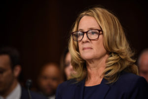 A new poll shows 45 percent of Americans believe Christine Blasey Ford's sexual assault allegation against Supreme Court nominee Brett Kavanaugh. Thirty-three percent said they believe Kavanaugh. Photo by Saul Loeb/Pool via REUTERS