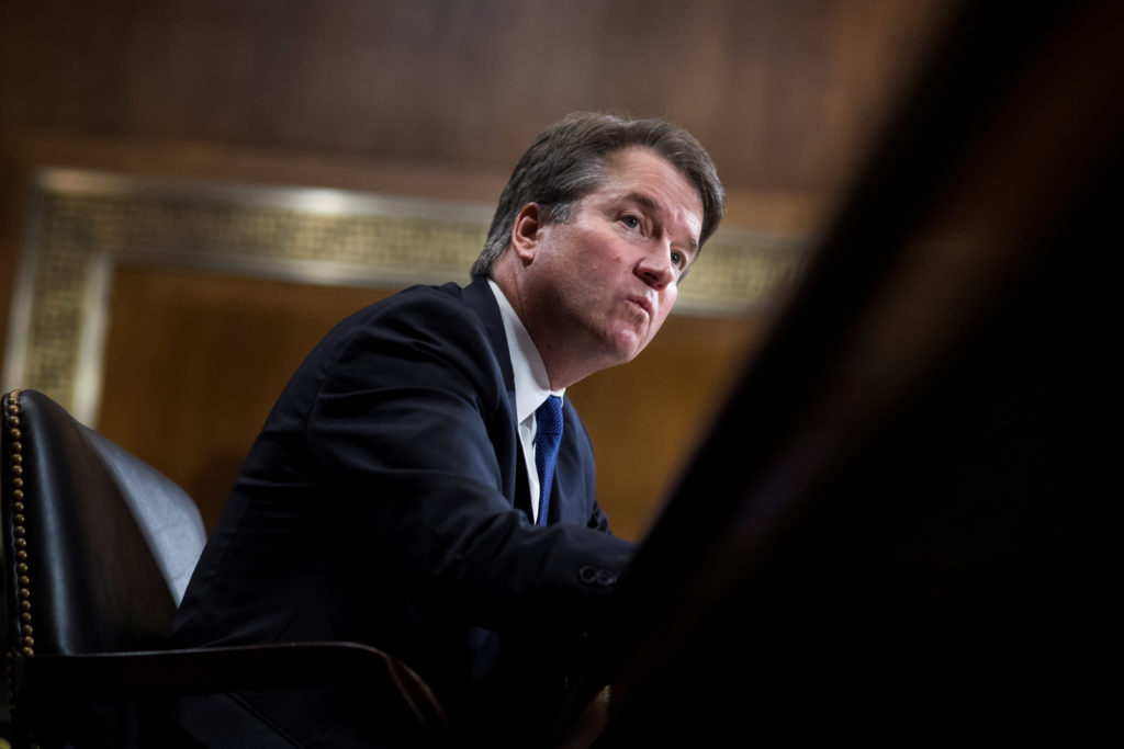 Judge Brett Kavanaugh testifies during the Senate Judiciary Committee hearing on his nomination be an associate justice of the Supreme Court of the United States in Washington, D.C. Photo by Tom Williams