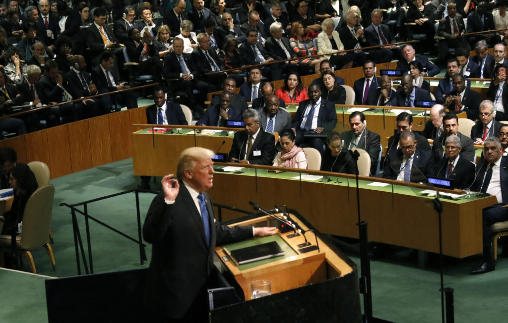 Trump Touts 'America First' At The United Nations