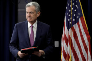 Federal Reserve Board Chairman Jerome Powell arrives at a news conference after the two-day meeting of the Federal Open Market Committee on interest rate policy in Washington, U.S., June 13, 2018. The Fed is expected to raise short-term interest rates Wednesday for the third time this year. Photo by Yuri Gripas/REUTERS