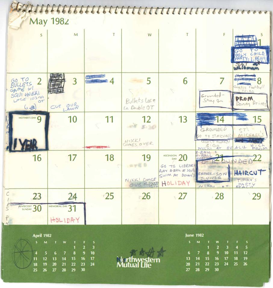 see 4 months of brett kavanaugh s calendar from 1982 pbs newshour