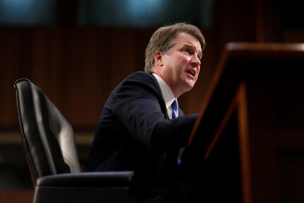Supreme Court nominee Brett Kavanaugh testifies during the second d…
