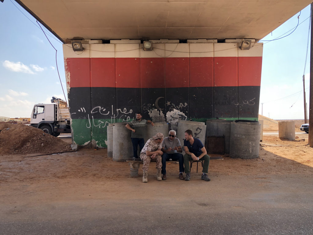 Journalists Christopher Livesay and Alessandro Pavone arrived in Tripoli, Libya in early August to report on the re-emergence of the Islamic State group and the immigration crisis. Photo by Alessandro Pavone