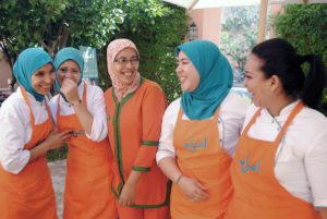 Women learn culinary and restaurant skills in Marrakesh, Morocco. Photo courtesy of the Amal Women's Center