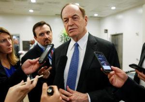 Senator Richard Shelby (R-AL) speaks to reporters in the U.S. Capitol in Washington, U.S., August 22, 2018. REUTERS/Joshua Roberts