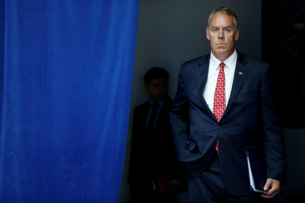 As Interior Department secretary, Ryan Zinke played a leading role in shaping the Trump administration's energy and environmental policy. File photo by REUTERS/Jonathan Ernst