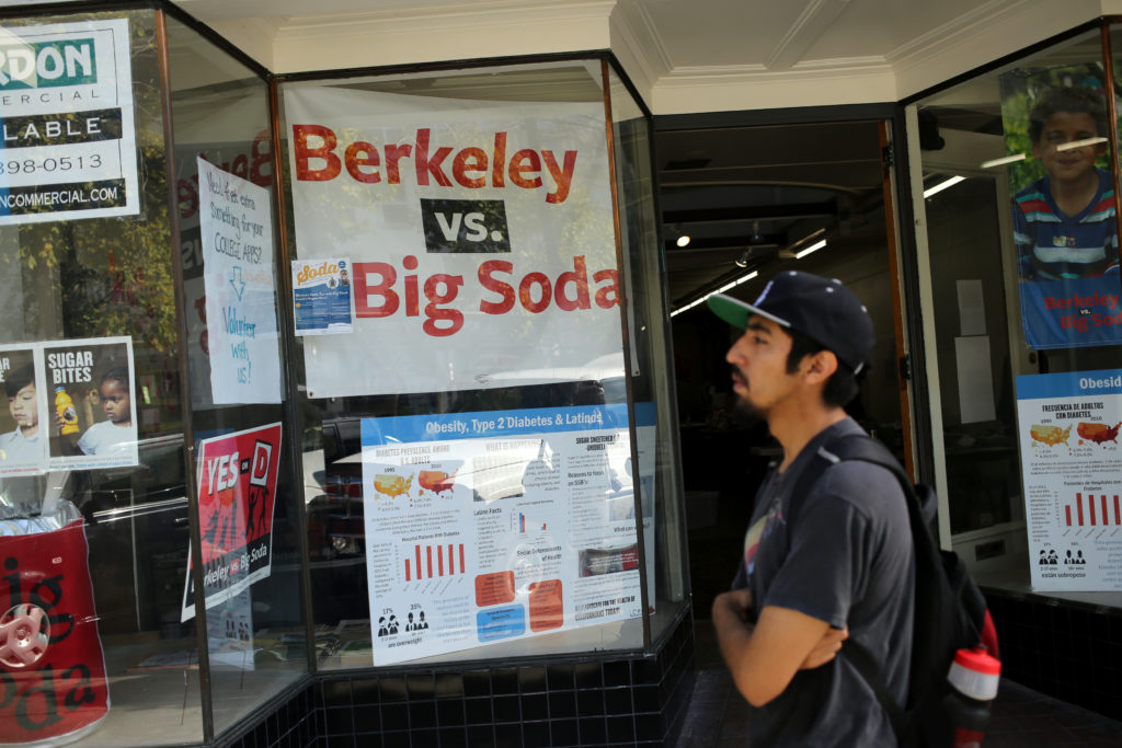 Berkeley, California was the first U.S. city to pass a tax on sugary drinks. Photo by Robert Galbraith/Reuters