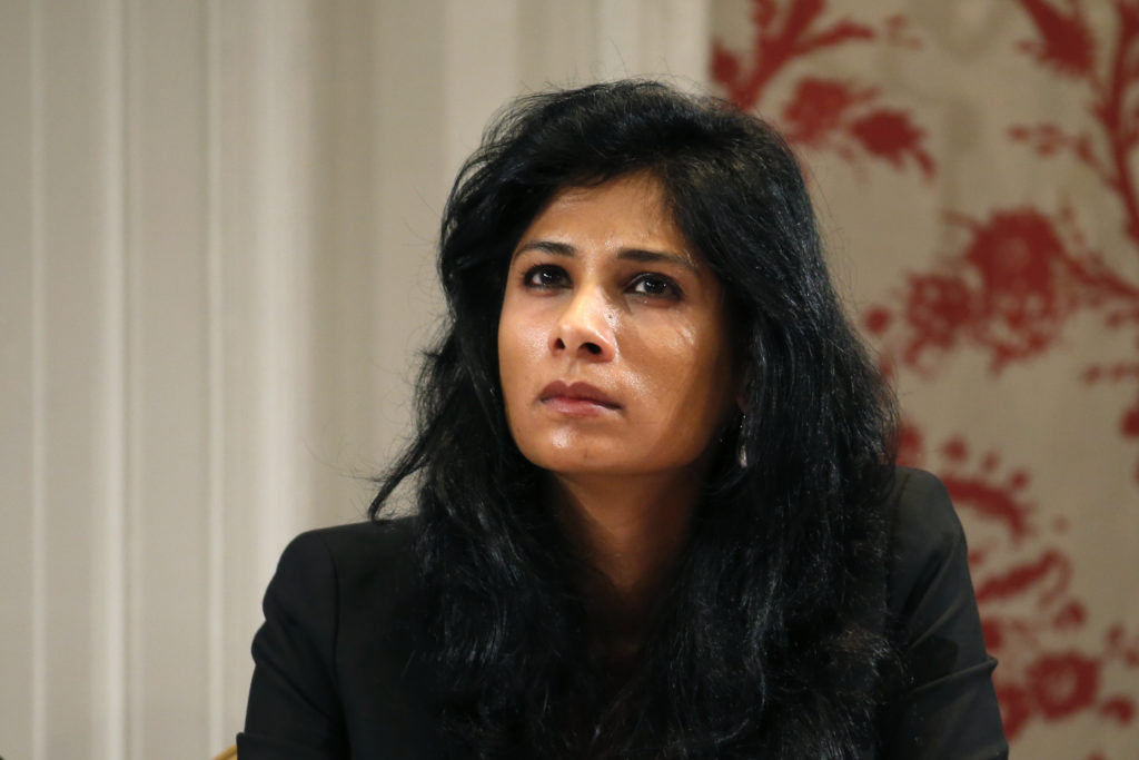 Gita Gopinath, professor at the economics department of Harvard University, will take over as the IMF's chief economist in December. Photo by Charles Platiau/Reuters