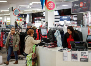 Consumer spending surged at an annual rate of 4 percent in the third quarter. Photo by Kamil Krzaczynski/Reuters